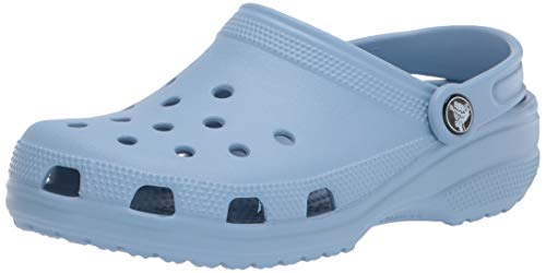 Crocs unisex adult Classic | Water Shoes Comfortable Slip on Shoes Clog, Chambray Blue, 12 Women 10 Men US