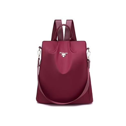 Wishliker Anti Diebstahl Rucksack Damen wasserdichte Nylon Schultaschen Tagesrucksack Schultertaschen für Reise Arbeit