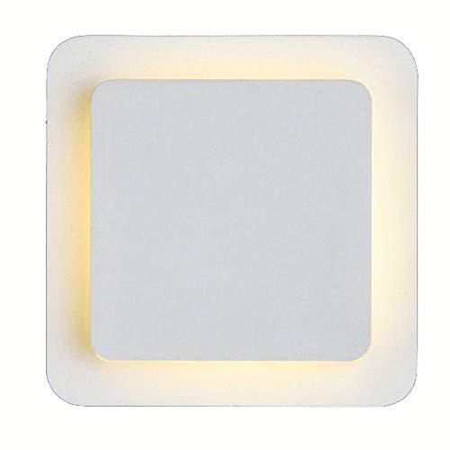 ooeoe Nordic LED Lampe murale chambre bedsides Creative couloir tapis de couloir Alum inume Appliques rotatif à 360 ° Sans Escalier Boîtier mural Leuchten Moderne Square-white