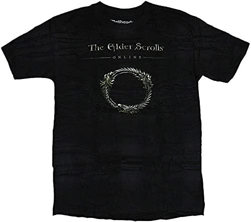 The Elder Scrolls Online Mens T-Shirt - Golden Circle Image Cartoon t Shirt Men Tshirt_146