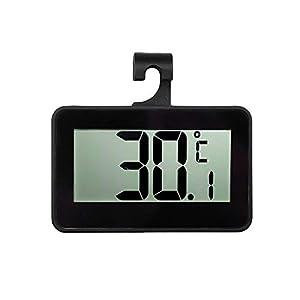 NLLeZ 1PC LCD Digital Screen Précision Réfrigérateur Thermomètre Réglable Stand Aimant Imperméable Réfrigérateur Digital Congélateur Chaud (Couleur : Black with Battery)