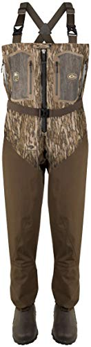 Drake Waterfowl Front Zip Guardian Elite 4-Layer Wader w/Tear-Away Liner [King/Stout] 11 Mossy Oak Bottomland Stout