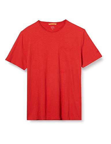 camel active Herren H 1/2 Arm T-Shirt, Rot (Red Core 44), Medium (Herstellergröße: M)