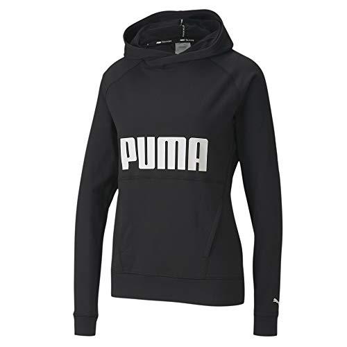 PUMA Damen Pullover Hoodie, Black, L, 518959