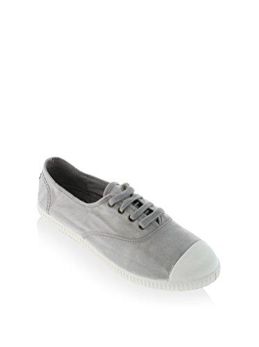 Calego - Zapatos de Cordones de Tela para Mujer (40 EU, Beige)