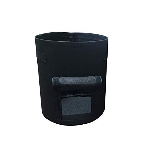 Homeofying Pot de fleurs pliable en tissu non tissé pour usage extérieur et intérieur Noir