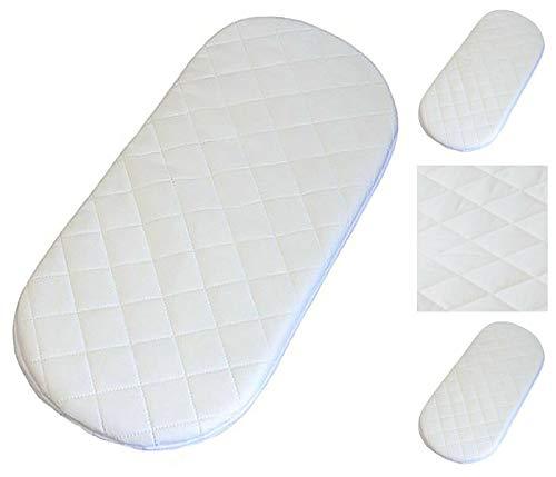 1stopbabystore Baby Moisés cesta mate colchón ovalado de espuma clásica 74 x 28 x 2,5 cm mate transpirable