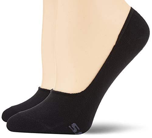 Skechers Socks Damen Sk44005 Füßlinge, Schwarz (Black 9999), (Herstellergröße: 35/38) (2er Pack)