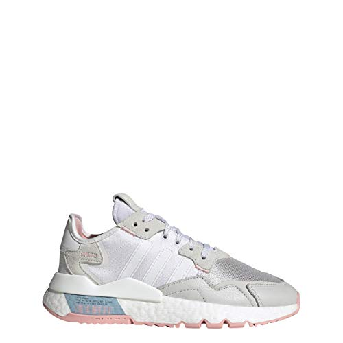 adidas Nite Jogger W Sneakers Bianco Beige Rosa FV4136 (40 - Bianco)