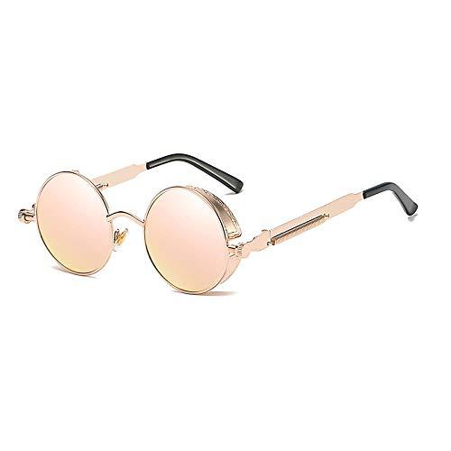 Sonnenbrille Sunglasses Retro Gothic Steampunk Sonnenbrille Polarisierte Männer Frauen Metallrahmen Runde Punk Sonnenbrille 100% Uv400 Schut