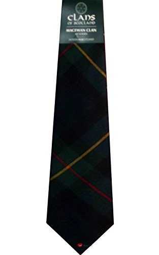 I Luv Ltd MacEwan Clan 100% Wool Scottish Tartan Tie