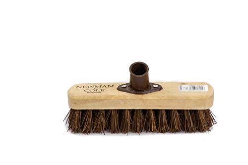 Newman and Cole - Cepillo para limpiar el suelo, cerdas duras para exteriores, mango largo (no incluido)