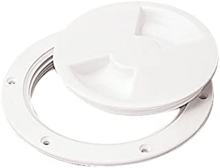 Sea Dog 337150-1 Screw Out Deck Plate,  5-7/16 /  White