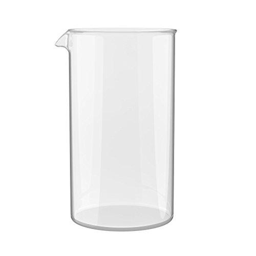 BonVivo Ersatzglas für alle handelsüblichen Kaffeebereiter und French Press (1000 ml, 8 Tassen, 8 Cups) - Ersatzbehälter