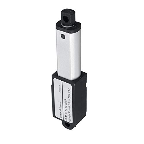 Pangocho Jinchao-Motor de Corriente Continua Actuadores Micro lineales Actuador Lineal, DC 12V Mini Motor Mini Lineal, Aleación de Aluminio 1500N 30mm, Fácil de Instalar (Speed(RPM) : 9.5mm)
