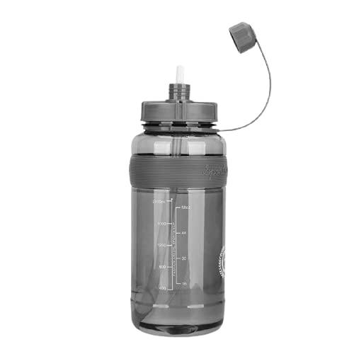Botella de agua Botella De Agua Para Deportes De Fitness De 1 Litro, Botella De Agua De Plástico De Gran Capacidad Con Pajita, Botella De Bebida