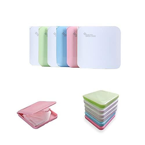 MAGIC SELECT 6 Estuches de Almacenamiento Multiuso Caja Plástica Impermeable, Anti-Polvo, Reutilizable, Portamascarillas, Compresas, Medicinas. (6 Cuadrado Grueso)