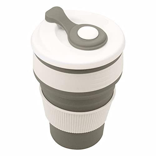 LICHAO Copa, plegable con tapas, taza de café, taza de silicona multifunción, botella deportiva, portátil y ligera, para acampar al aire libre, senderismo