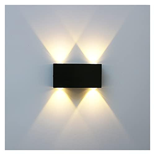 ALOMIN Lámpara de Pared de Doble Cabeza de Plata Negra cepillada LED Lámpara de Pared Superior e Inferior Corredor Sala de Estar Lámpara de Pared de Noche lámpara