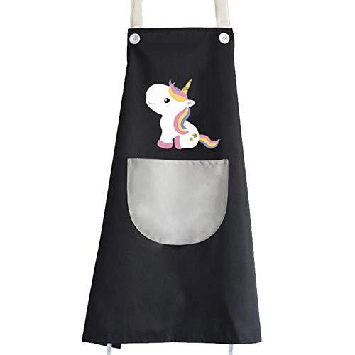 LALLing Einhorn Schürzen große Größe verdicken wasserdichte Küchenschürze Party Backen Kochschürzen ärmellose Tasche Adult BBQ Bib Schürze