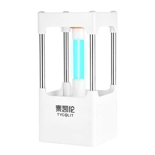 Lámpara Germicida Uv, Esterilizador Uv, Esterilizador Con Sensor De Radar, Lámpara De Desinfección De Oficina / Hogar / Viaje. (blanco, 8W)