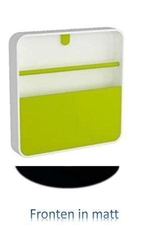 Conny Clever Schlüsselschrank aus Hochwertigem Kunststoff 32x32cm Schwarze Matte Oberfläche/Haky Box/Key Box/Schlüsselbox / Schlüsselkasten