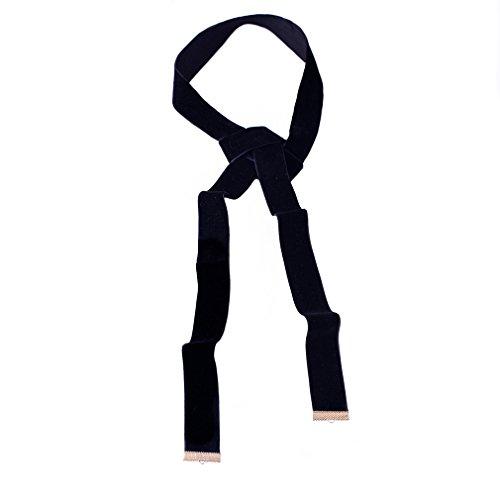 YAZILIND Women Wide Black Flocking Scarf Choker Collar Necklace Jewelry Gift Idea