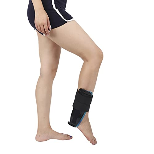 JY88 Air Gel Ankle Stirrup Brace Stabilizer Support for Reduce Ankle Swelling and Inflammation, Relief Sprains and Arthritis Pain,Black