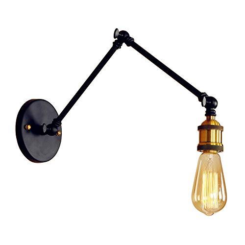 Rishx Américain Loft Industriel Bras Bras Articulé Réglable Edison E27 Applique Lampe Lampe Creative Design Engineer Concepteur Lecture Travailler Multi-angle Éclairage Mural (Taille : 30+30cm)
