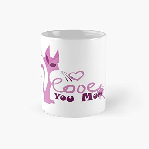 Love You Maa 2 Moon Back Classic Mug Best Gift Funny Coffee Mugs 11 Oz