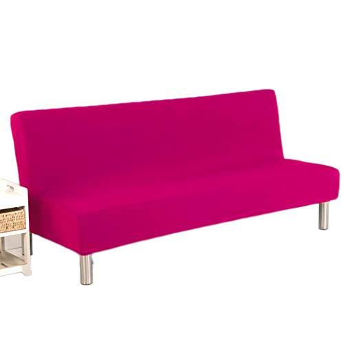 fnemo Schlafsofa-Abdeckung,einfarbige armlose Sofabezug-Stretch-Futon-Schonbezug-Polyester-Spandex-Sofaschutz