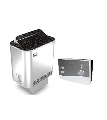 stufa sauna Nordex 8 kw con il controllo esterno K1-next per 220V e 400V