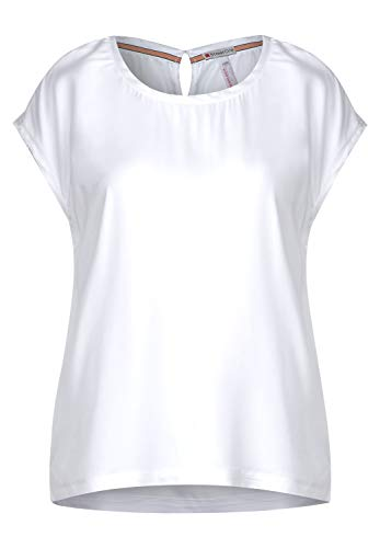 Street One Damen 341981 Blusenshirt Bluse, White, 42