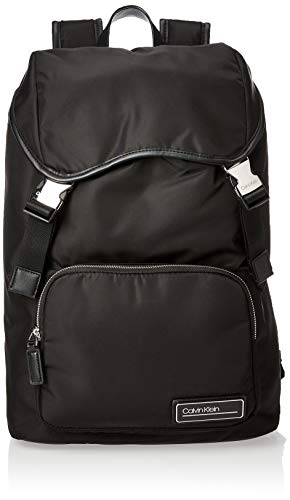 Calvin Klein - Primary Backpack W Flap, Mochilas Hombre, Negro (Black), 1x1x1 cm (W x H L)
