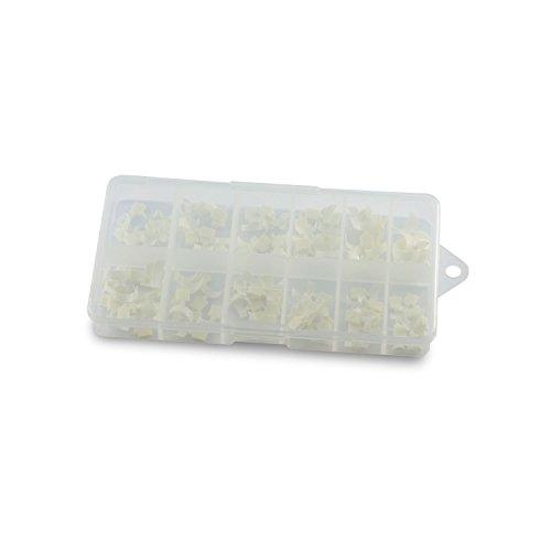 N&BF Quick French White Nagel Tips | Easy Nageltip Set Sortierbox 120 Stück | Profi Nail Extensions mit Smileline flexibel & vielseitig | Kunstnägel Made in EU | in 10 versch. Größen