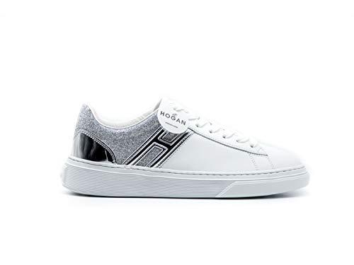 Hogan Sneaker Donna H365 Argento Bianco HXW3650J970NQC0351 38, C0351 Argento Bianco