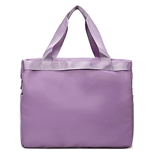 BERJMA Bolsa de viaje femenina de corta distancia portátil de gran capacidad de viaje de gimnasio bolsa de almacenamiento portátil bolsa de lona púrpura