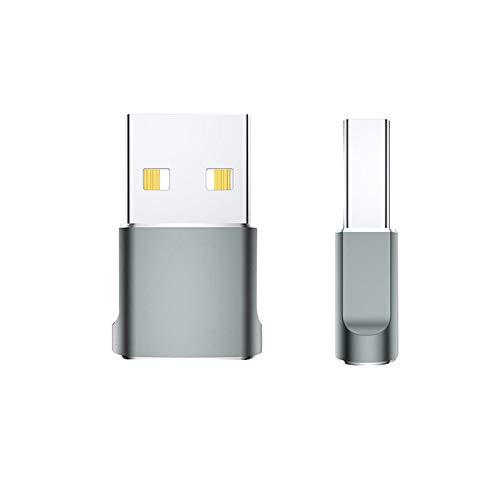 AHNUNVA USB C Hembra a USB Macho, CostumesAdapter Pack de Tipo C a USB A Convertidor Aleación de Aluminio USB Macho a Tipo-C Hembra Adaptador Tipo-C Hembra a Adaptador USB A Macho a C Hembra