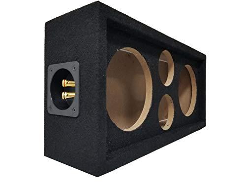 Speaker Pod Enclosure Box Carpeted MDF fits 6  Midrange Speakers and 1  Tweeters
