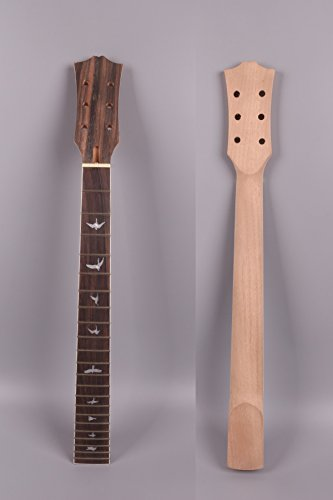 E-Gitarre Hals unlackiert 22Bund 62,9cm Mahagoni Palisander Griffbrett Bolt LP E-Gitarre Bird Einlage