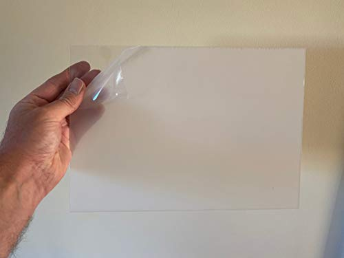 [WOOTTON INDUSTRIES LIMITED] Clear Thin PETG Plastic Sheets A3 Model Making Dolls House Windows [5 x A3 420mm x 297mm - 1mm]