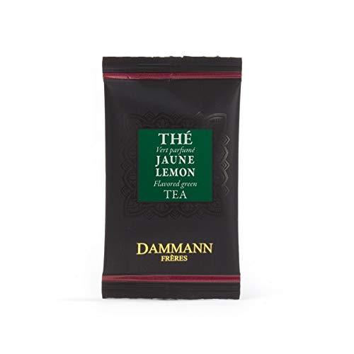Passerini Konditorei sinds 1919 Damman Jaune Lemon - groene thee Sencha uit China, citroengras, etherische oliën uit limoen en citroen, in combinatie met gember, 24 filter, Damman Frères