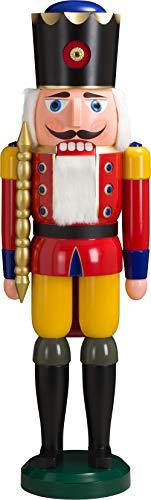 HOWE-Deko Riesen-Nussknacker König, aus Holz, rot, Höhe 100 cm