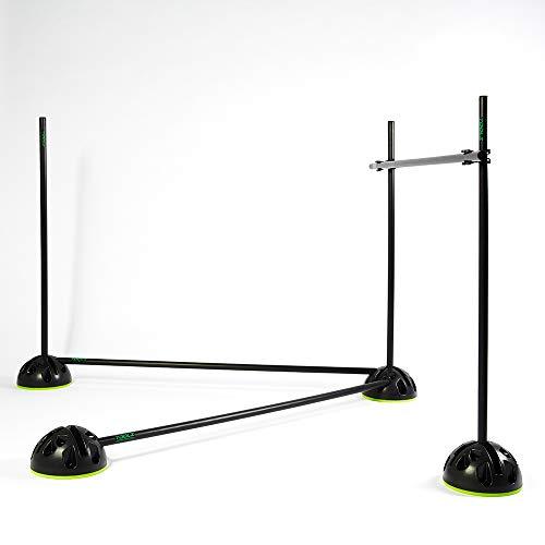 TOOLZ Agility Grid Set - Hürden Slalom Set mit Stangen, Standfüßen und Verbindungsclips für Koordinationstraining und Agilität (10 Standfüße, 14 Stangen 100cm, 6 Clips) inkl. Tasche