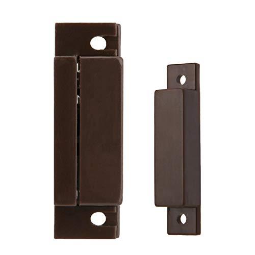 Alarma de Seguridad antirrobo Alarma magnética de Puerta de plástico ABS Marrón Oscuro para Garaje para Tienda