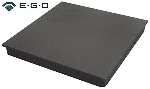 Kookplaat met gegoten rand vierkant 230 V afmetingen 400 x 400 mm 5000 W