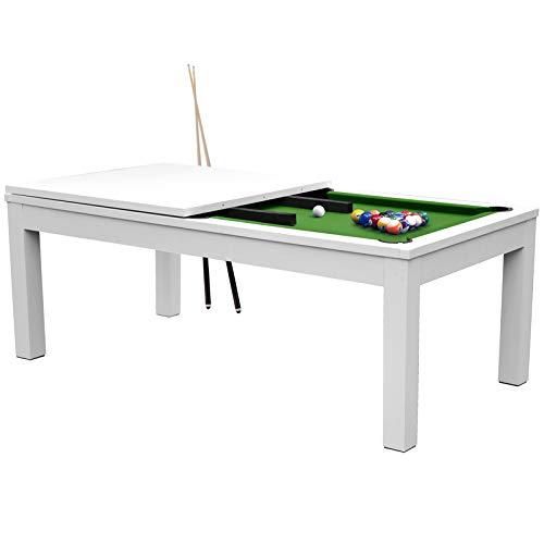 Rendez vous déco Table de Billard rectangulaire Convertible Blanche...