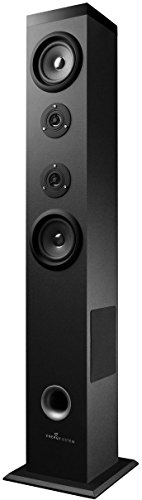 Energy Tower 5 Torre de Sonido con Bluetooth y Mando a Distancia (60 W, Panel Táctil, USB/SD y Radio FM) - Negro