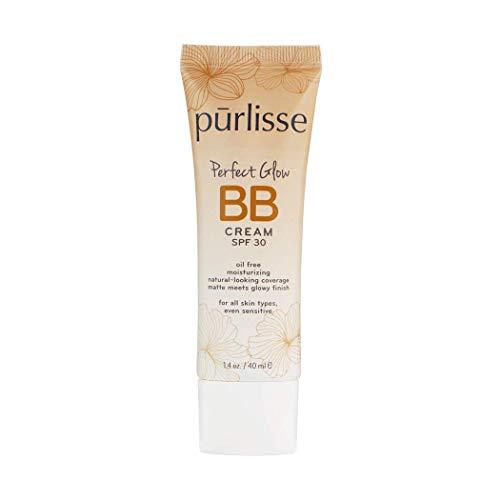 purlisse BB Tinted Moisturizer Cream SPF 30 - BB Cream for All Skin Types - Smooths Skin Texture, Evens Skin Tone - 1.4 Ounce (MEDIUM)