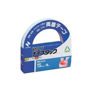 (業務用10セット) ニチバン 両面テープ ナイスタック 【強力タイプ/15mm×長さ18m】 NW-K15 〈簡易梱包